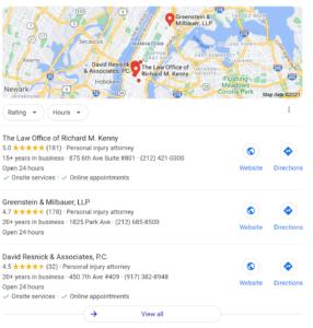 Law Firm Google Maps SEO